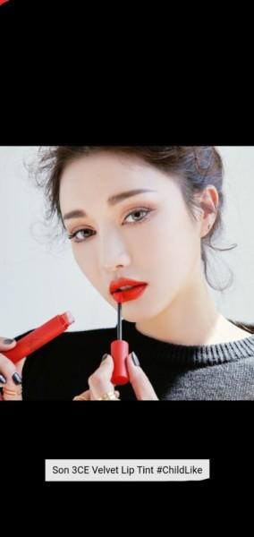 Son kem 3CE Velvet Lip Tint ChildLike - Đỏ Cam tốt nhất