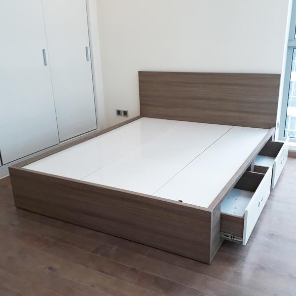 Giường ngủ gỗ TG-07H (160cm x 200cm)