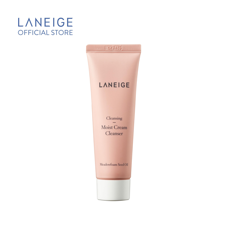 Sữa rửa mặt giúp dưỡng ẩm cho da thường và da khô Laneige Moist Cream Cleanser Miniature 50Ml