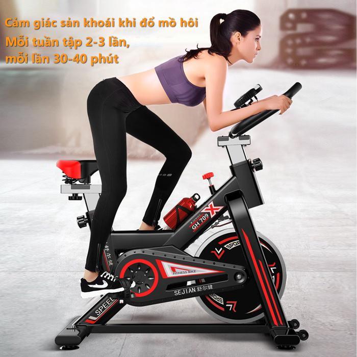 Xe đạp tập thể dục Air bike thiết kế hoàn toàn mới ,Xe đạp tập gym tại nhà dụng cụ tập gym đạp xe tại nhà yên tĩnh tiện lợi nhỏ gọn Tops Market