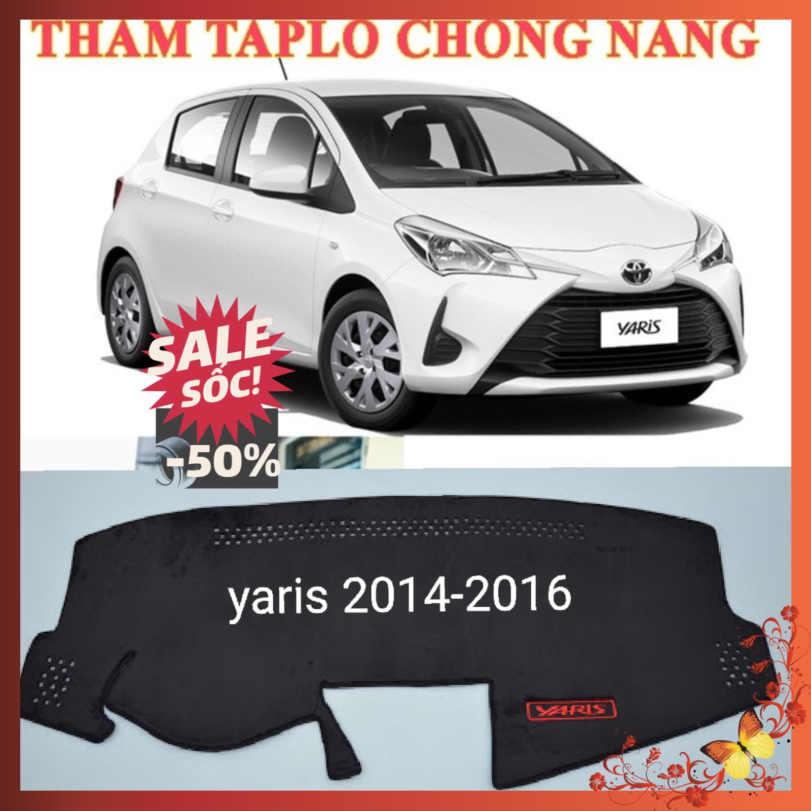 Ưu Đãi Giá cho Thảm Taplo Nhung 3 Lớp Xe Toyota Yaris 2014-2016
