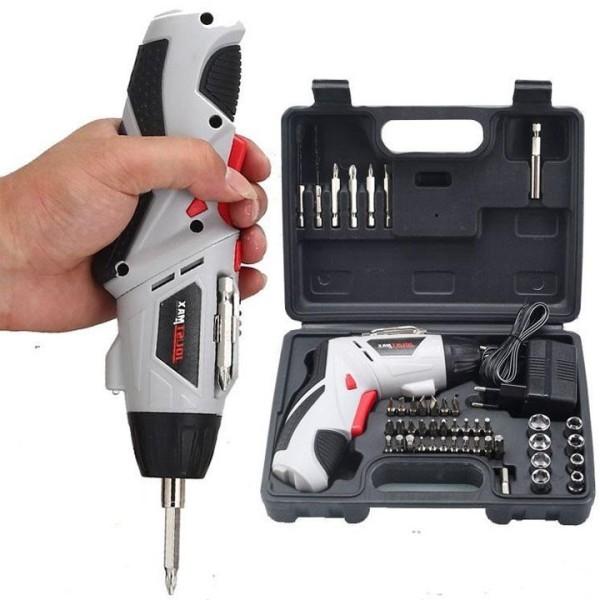 Máy Khoan Pin Cầm Tay, Khoan Pin Mini Bắt Vít Joust Max Bộ 45 Chi Tiết Chuyên Bắt Vít Khoan Bề Mặt Mỏng Phục Vụ Gia Đình