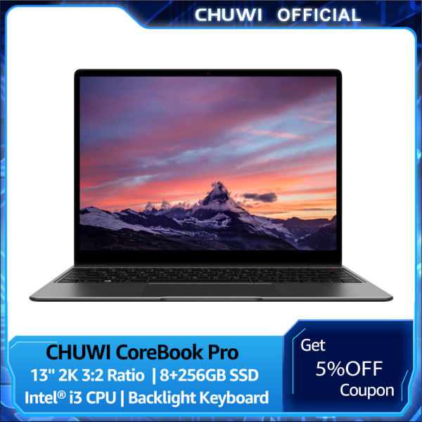 Bảng giá CHUWI Official CoreBook Pro i3 Laptop   8GB Dual Channel 256GB SSD   2160*1440 Resolution 13 Inch 3:2 Ratio   Intel Core i3 Processor Laptops Business Notebook 1 Year Warranty Phong Vũ