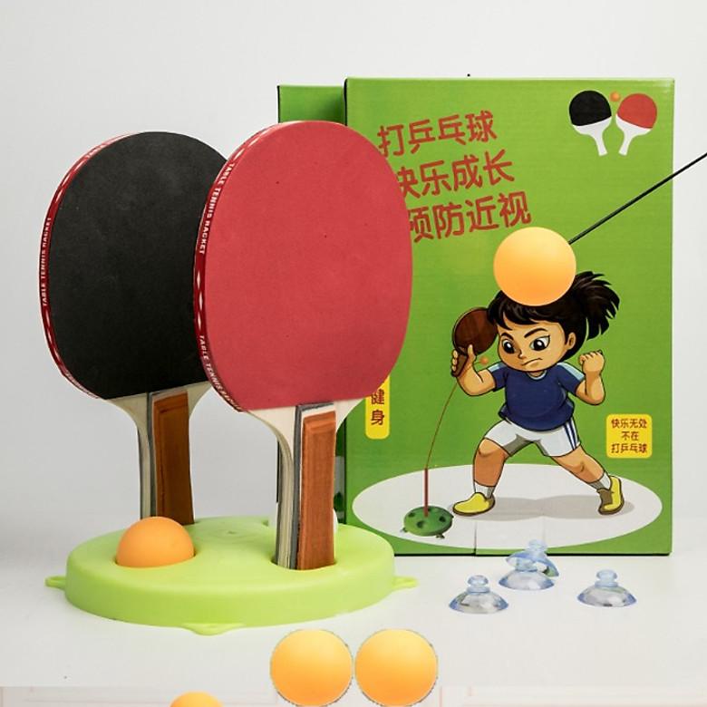 Bảng giá Bóng bàn tập phản xạ lắc lư cho bé - tặng kèm 3 trái bóng