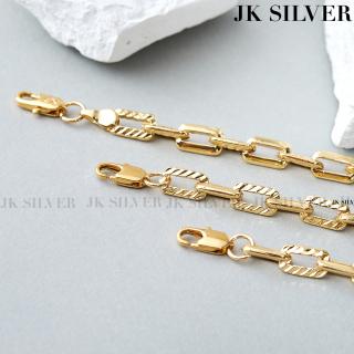 Vòng tay nữ JK Silver kiểu dáng hiện đại, phong cách thời thượng, vòng tay nữ dễ thương, dạng mắt xích nổi bật - VT-2109 thumbnail
