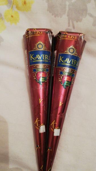 Combo 02 Mực Henna Kaveri - Màu nâu đen truyền thống