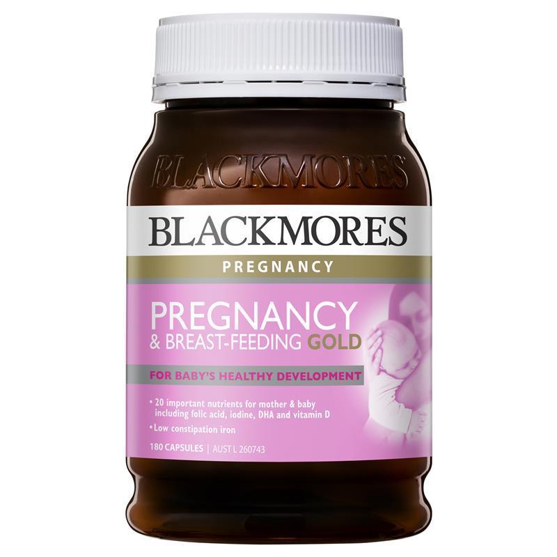 Vitamin tổng hợp cho bà bầu, mẹ sau sinh Blackmores Pregnancy Gold 180 viên