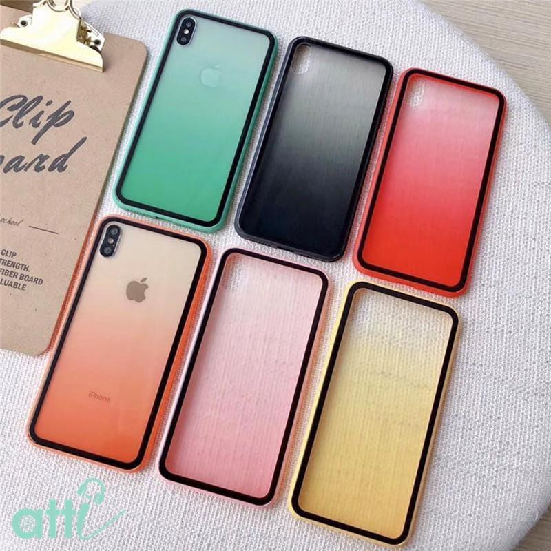 Giá ỐP LƯNG IPHONE  chống sốc lưng meka viền mềm bo 4 góc đủ 6 màu cho IPHONE 6 6s 6 Plus 6sPlus 7 8 7 Plus 8 Plus X Xs XsMax 11 11 Pro 11 Pro Max ( đỏ - đen - vàng - hồng -cam -xanh lá) K102