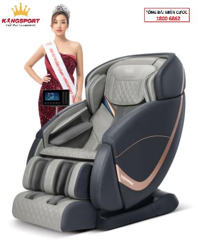 Ghế massage Kingsport G61 - ghế massage toàn thân cao cấp,tự động mát xa đa năng, chế độ không trọng lực