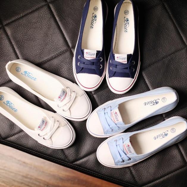 Giày Lười Nữ, Giay Luoi Vai Nu, giày Slip-on Vải Mềm Mại giá rẻ