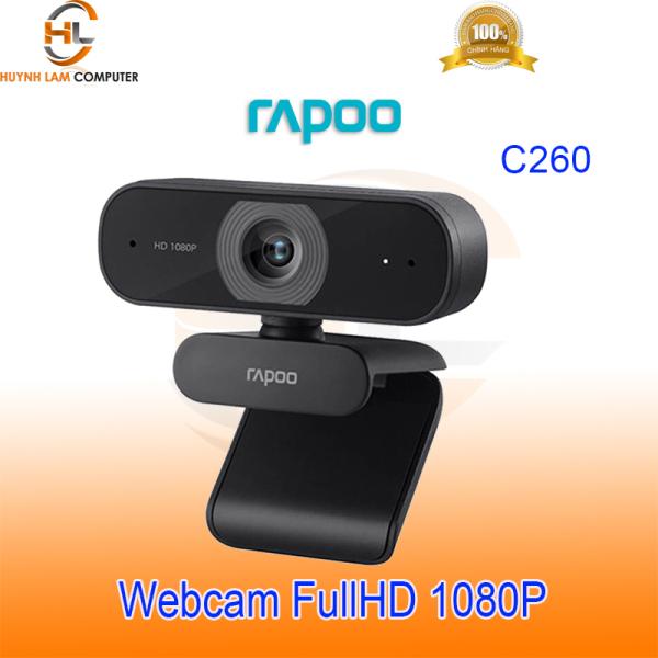 Bảng giá Webcam Rapoo C260 FullHd 1080p góc quan sát 80 độ - Hãng phân phối Phong Vũ