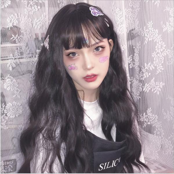 [TẶNG LƯỚI] Tóc giả nữ nguyên đầu Hàn Quốc có da đầu - TG28 ( MÀU ĐEN )