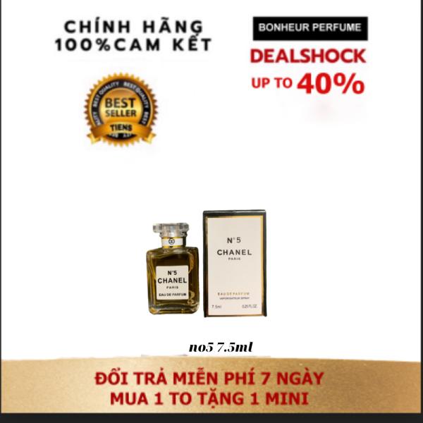 Quà tặng Túi chườm bụng kinh(Hộp quà) kèm Nước Hoa Nữ N°5 chanel 7.5 ml siêu lưu hương