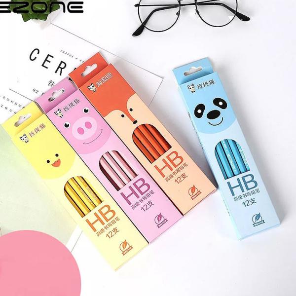 Set 4 bút chì chuốt HB bằng gỗ theo chủ đề nhiều màu sắc kèm gôm xinh xắn BBShine – H026