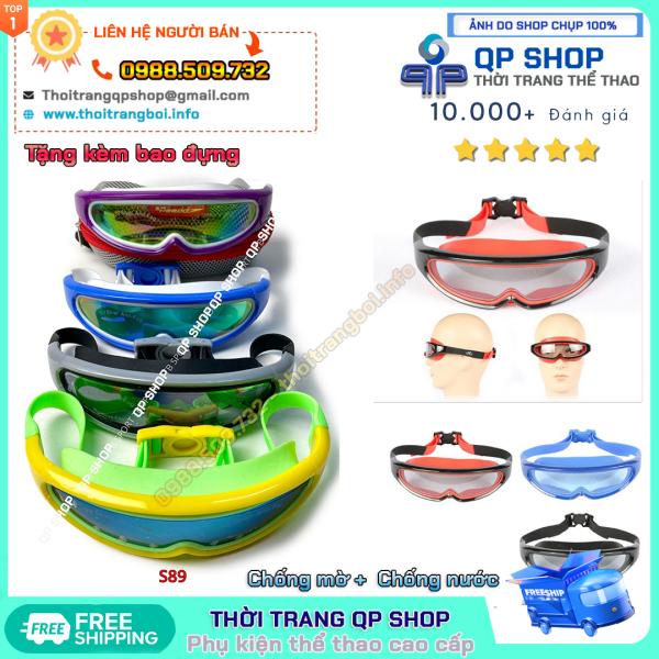 Kính bơi Speedo S89 chống nước chống mờ chống UV  Tặng kèm bao đựng dùng khi tập bơi thi đấu bơi lội chuyên nghiệp 1 đổi 1 ảnh thực tế 100% có video sản phẩm| S89
