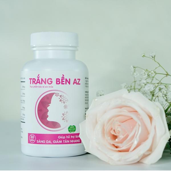 [COMBO 2 HỘP] Trắng Bền AZ làm đẹp da, giảm tàn nhan, giúp cân bằng nội tiết tố nữ (30 viên)