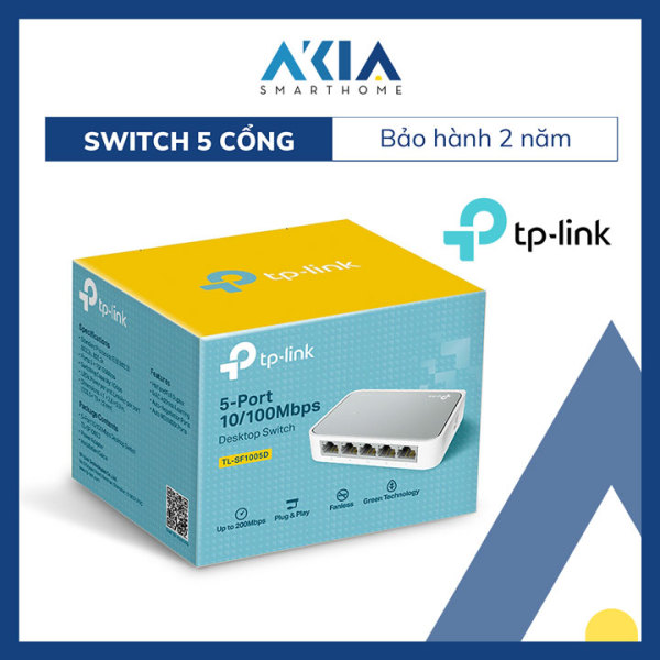 Giá Switch Chia Tín Hiệu Để Bàn 5 cổng 10/100Mbps TL-SF1005D - Hàng Chính Hãng
