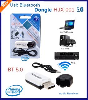 Bluetooth USB Dongle HJX-001 BT 5.0 V5.0 kết nối âm thanh với Loa, Amply thumbnail