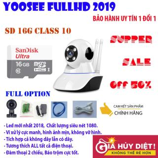 Camera wifi yoosee Siêu nét FULL HD 1920x1080, công nghệ led mới, hình ảnh sắc nét, không bị giật, ổn định - đàm thoại 2 chiều, cảm biến chuyển động, tích hợp báo động, BH UY TIN 1 ĐỔI 1 bởi DMX Tặng thẻ nhớ 16G CH class10 thumbnail