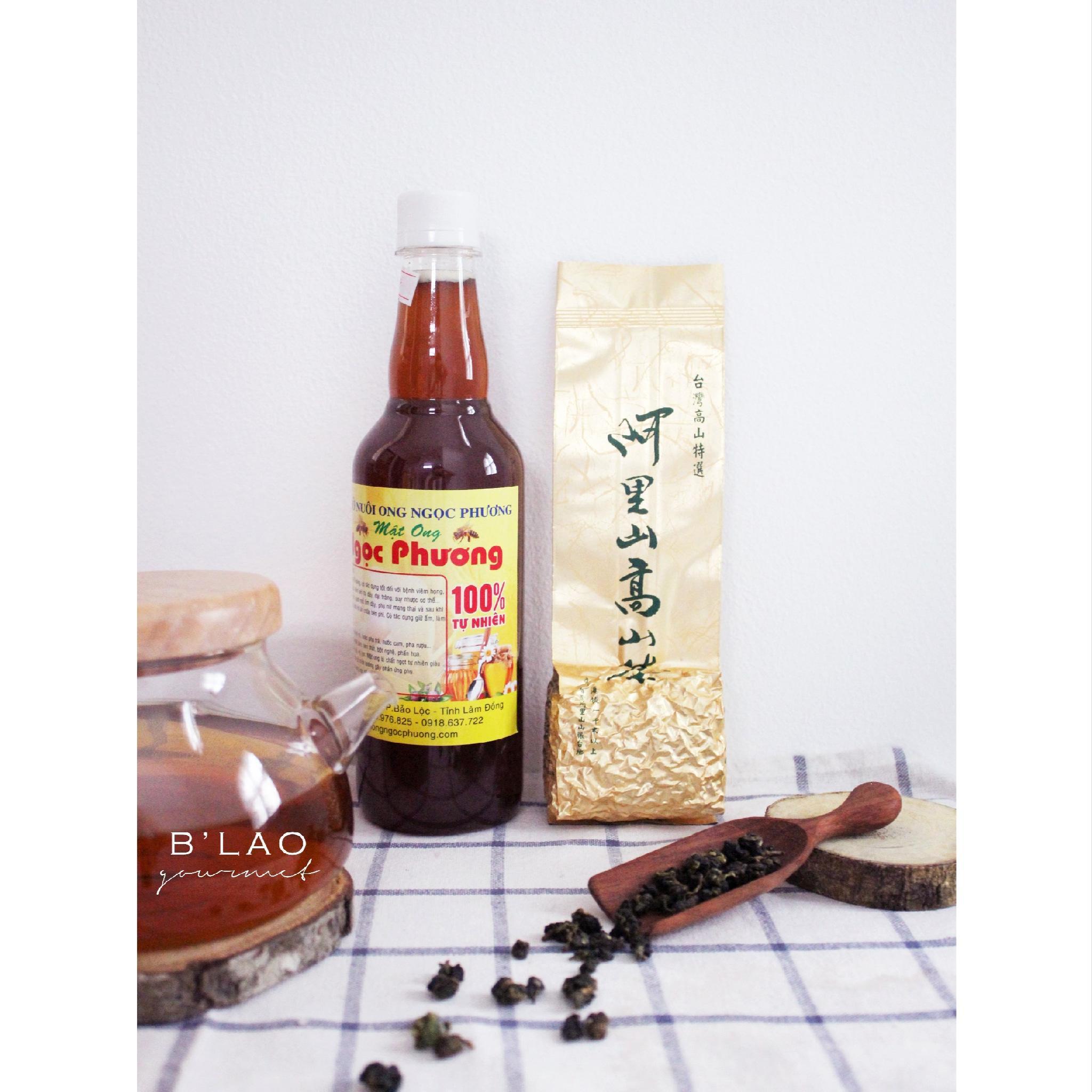 Combo Mật ong hoa cà phê 500ml + Trà Oolong thuần Đài Loan 100gr Nhật Bản