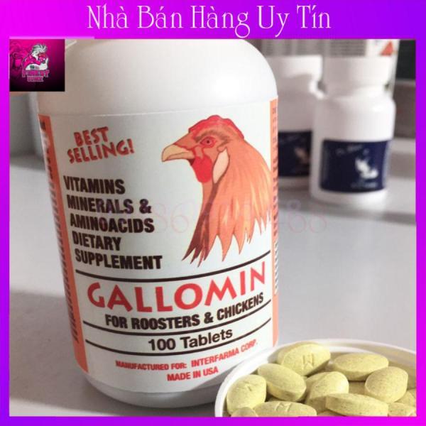 Gallomin Hộp Zin 100 Viên-Nuôi Gà Chế Độ Đá Cao Cấp Hàng Chuẩn USA
