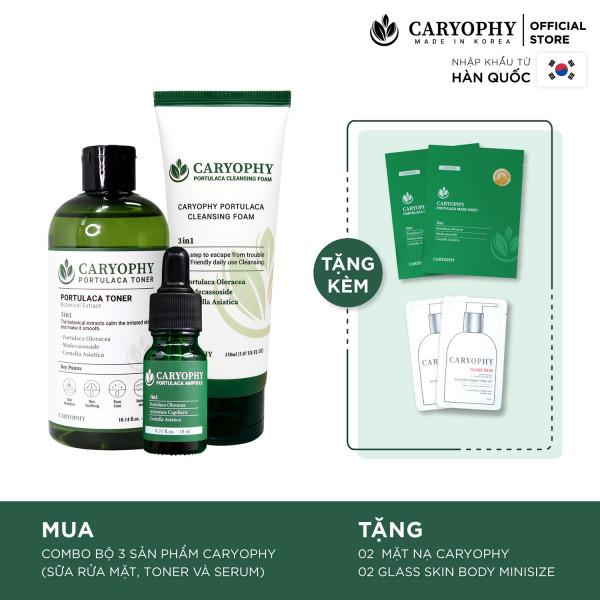 Bộ 3 Caryophy Serum, Sữa Rửa Mặt Ngừa mụn, Toner Dưỡng Ẩm Da Caryohpy