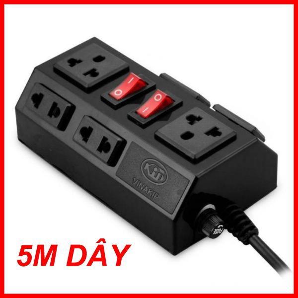 Ổ CẮM ĐIỆN CHỐNG LẬT CHÍNH HÃNG CAO CẤP 5 MÉT DÂY, Ổ Cắm Điện Đa Năng - Ổ Cấm Điện 6 Lỗ, Ổ cắm siêu chịu tải