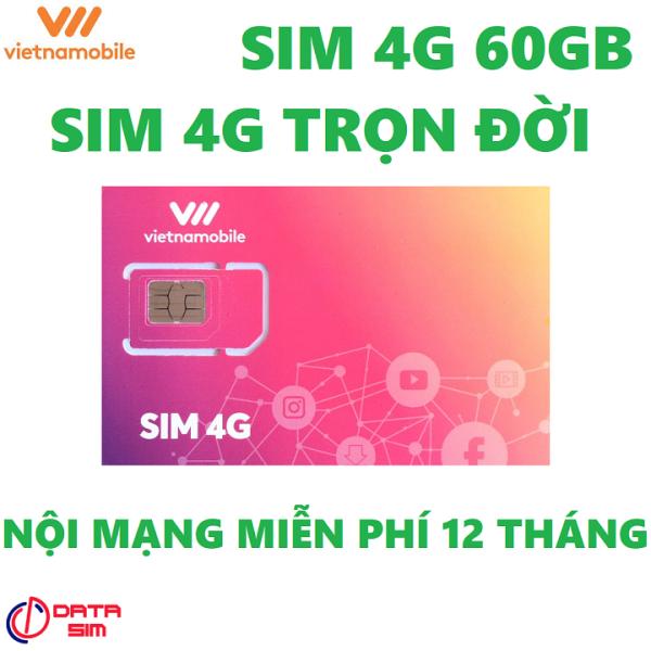 Sim 4G vietnamobile trọn đời 60GB miễn phí 12 tháng