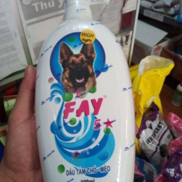 Sữa tắm FAY 5 sao chuyên dụng cho chó và mèo - chai 800ml (tặng kèm 01 gói men tiêu hóa)