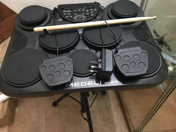 Trống Điện Tử Medeli DD315 ( Ảnh thật ) - Trống điện cho người mới tập chơi - Nhập khẩu chính hãng - Phân phối Sol.G