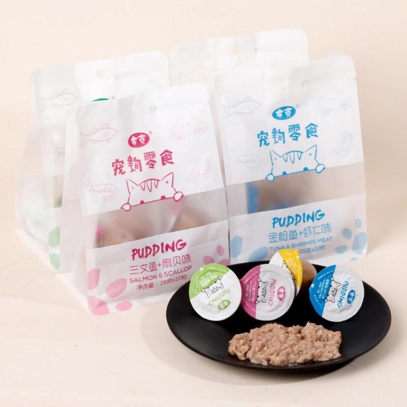 Pudding hải sản Pipitao (viên 25gr) - Thức ăn cho mèo - Cam kết hàng đúng mô tả, chất lượng đảm bảo, an toàn cho thú cưng sử dụng