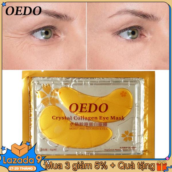OEDO Miếng dán mắt chăm sóc da mắt collagen tinh thể vàng chống lão hóa Kem chống bọng mắt dạng vòng tròn tối màu chống bọng mắt