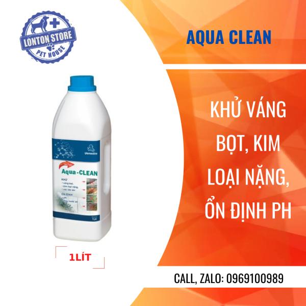 VEMEDIM Aqua Clean dùng khử váng bọt, kim loại nặng, ổn định pH cho ao nuôi thủy sản, chai 1lit, Lonton store &Vemedim