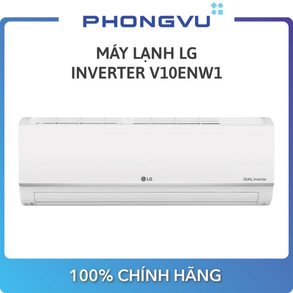 [Trả góp 0%]Máy lạnh LG Inverter 1.0 HP V10ENW1 - Bảo hành 24 Tháng - Miễn phí giao hàng Hà Nội & TP HCM