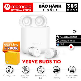 Tai nghe không dây TWS - Motorola VerveBuds110 - Bluetooth 5.0 Chống nước IPX4 Pin 12h Cổng sạc micro Phù hợp với Iphone Samsung Huawei Sony Xiaomi Oppo LG Nokia thumbnail