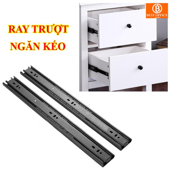 Ray trượt ngăn kéo, hộc tủ di động [2 chiếc] sơn tĩnh điện siêu bền