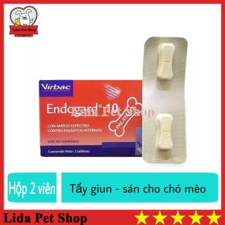 HN- Thuốc Sổ Giun Sán Cho Chó Mèo - Virbac Endogard 10 hộp 2 viên - Lida Pet Shop thumbnail