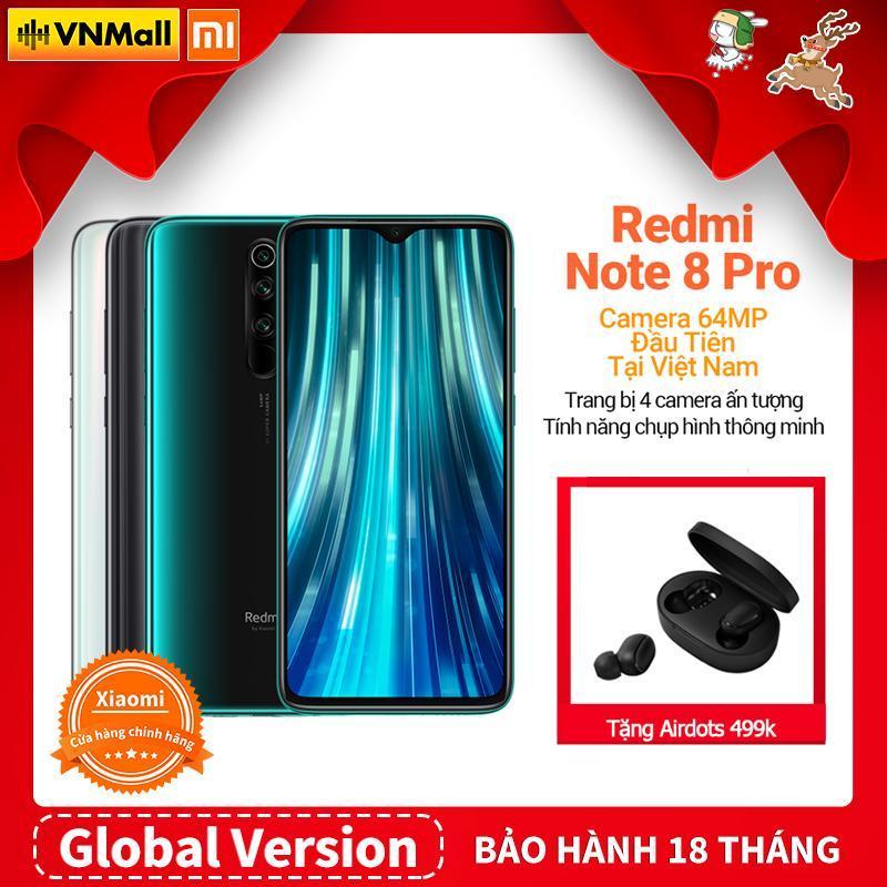[Global Version] Xiaomi Redmi Note 8 Pro (6GB - 64GB / 128GB)  Màu Trắng/ Xám, Bộ Xử Lý Chơi Game Helio G90T, Pin Khủng 4500 mAh, Ống Kính Macro, Camera Góc Rộng - BH 18 Tháng-Fullbox