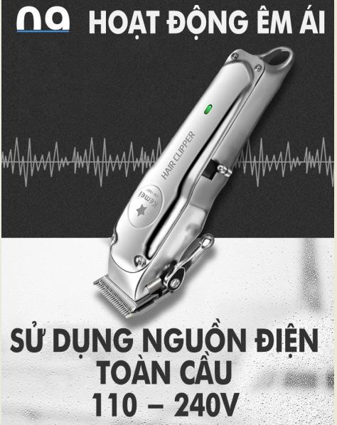 Tông đơ cắt tóc cao cấp không dây Kemei -1997 - dòng tông đơ chuyên nghiệp được săn đón năm 2019