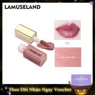 Lamuseland 1 Cây son bóng mini bền màu và dưỡng ẩm, có 12 màu dễ thương để lựa chọn - INTL thumbnail