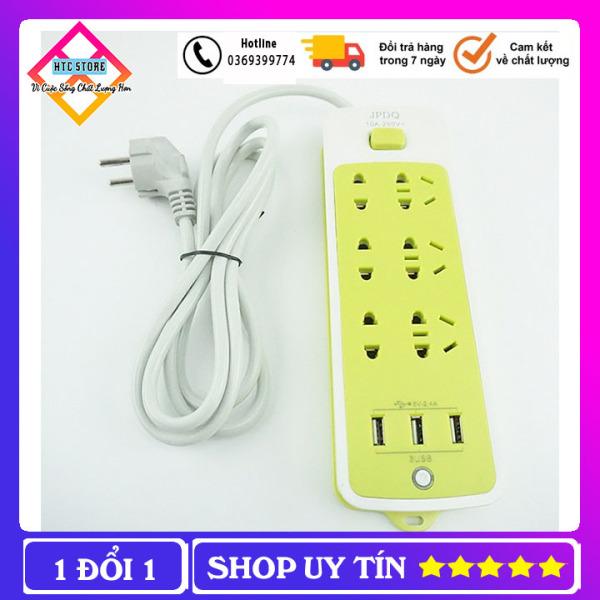Ổ Cắm Điện Xanh 16 Lỗ, Ổ Cắm Điện 3 Cổng USB Cách Nhiệt Chống Giật giá rẻ