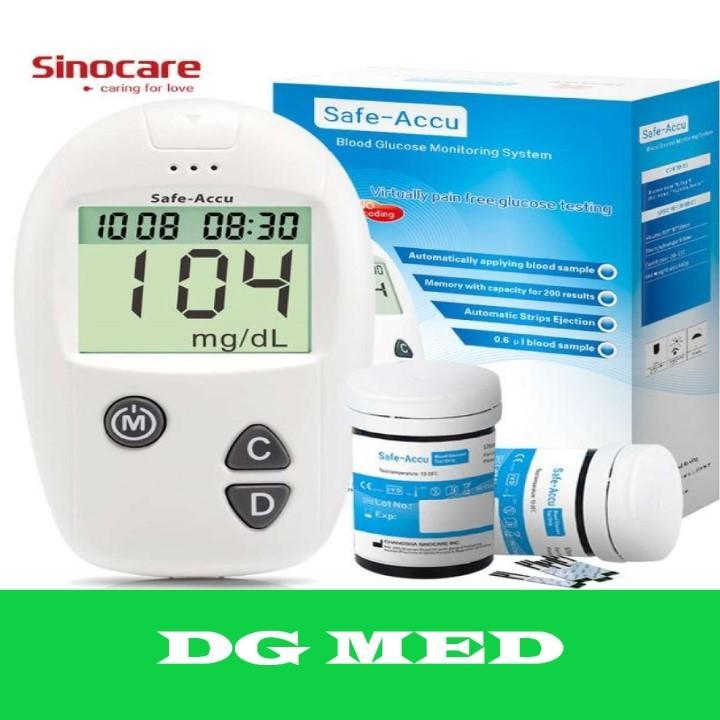 Bộ 50 que thử máu + 50 kim tặng 1 Máy đo đường huyết Sinocare bán chạy