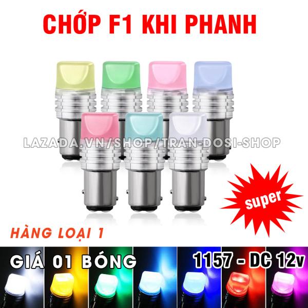 01 bóng đèn LED phanh, stop chớp f1 - 1157 9smd 2835 8.5w max sáng DC 12v