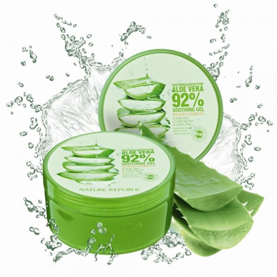 Gel nha đam dưỡng da làm đẹp đa năng Nature Republic Aloe Vera 92% Soothing Gel 300ml cao cấp