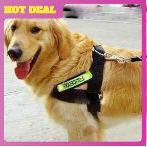 Dây dắt yếm phản quang cho chó - Hiệu POLICE . Bản Rộng 2.5cm