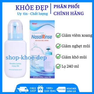 Bình rửa mũi xoang Nasal Rinse tặng 10 gói muối rửa mũi thumbnail