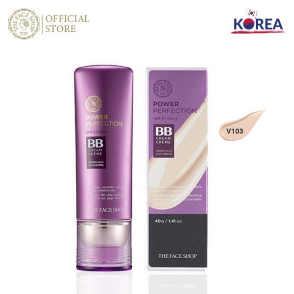 Kem Nền Trang Điểm THEFACESHOP Power Perfection Bb Cream SPF37 Pa++ 40G giá rẻ