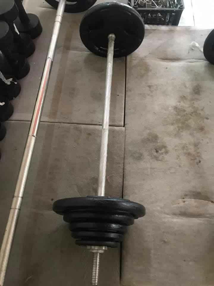 Bộ đẩy Tạ Tập Squat 52 Kg (45kg Tạ Và đòn 1.8m) Giá Tốt Nhất Thị Trường