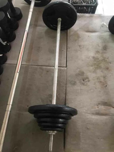 Bảng giá Bộ đẩy tạ tập Squat 52 kg (45kg tạ và đòn 1.8m)