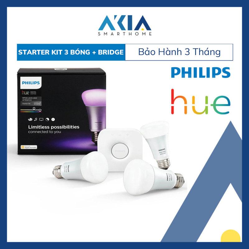 Đèn Thông Minh Philips Hue White And Color Ambiance Starter Kit - Hàng Nhập Khẩu